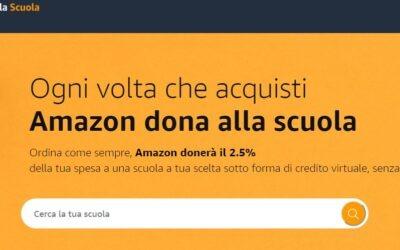 """Adesione all'iniziativa """"Un Click per la Scuola"""" di Amazon.it"""